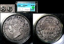 Elite Varieties Canada 5 Cents - 1886 Large 6 Over Small 6 - Au55 A464
