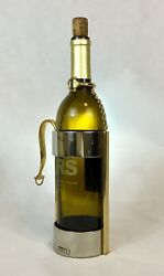 Vintage 2 Tone Gold/pewter Horse Bit Motif Wine Caddy Bar Collectibles