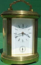 Matthew Norman 1754a Vintage Swiss 8 Day Oval Carriage Alarm Clock