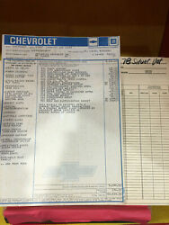 1978 L82 Anniversary Corvette Window Sticker With Every Option And Documentation