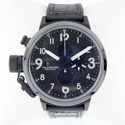 U-boat Flightdeck Menand039s Automatic Chronograph Watch W/ Carbon Dial 7750/50mm