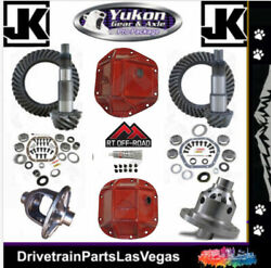 Jeep Wrangler Jk 44 30 Re-gear Ring Pinion Yukon Red Covers Master 4.11 Grizzly
