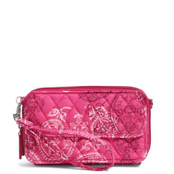 Vera Bradley All In One Crossbody and Wristlet For iPhone 6 Stamped Paisley New $27.49