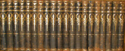 Leather Set Complete, Children's Encyclopedia Antiquarian Old Rustic Rare