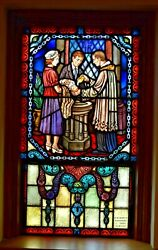 + Nice Older Stained Glass Church Window + Baptism 46 Of 58 Chalice Co.