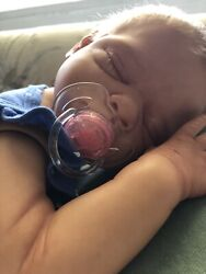 Reborn Baby Girl Gus By Tina Kewy,full Torso And Arms And Legs, Box Opening