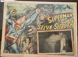 Superman And The Jungle Devil George Reeves Mexican Lobby Card
