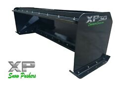 8and039 Xp30 Black Snow Pusher W/ Pullback Bar- Skid Steer Loader - Local Pick Up