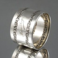 Vintage French Silver Napkin Rings Flowers Marie-ange