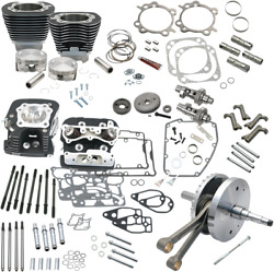 S&S 124in. Hot Set Up Kits with Heads 900-0568 Harley Twin Cam (07-17)