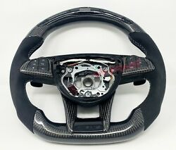 Mercedes C63 Amg Gts Gt Led Carbon Fibre Steering Wheel - Customisable Options