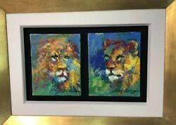 "Was $150k LeRoy Neiman ORIGINAL ""The Lion and Lioness"" HUGE MARKDOWN 5O % OFF !!"