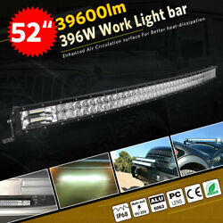 Curved 52inch 396w Led Light Bar Combo Truck Offroad Lamp Boat Driving Suv 54