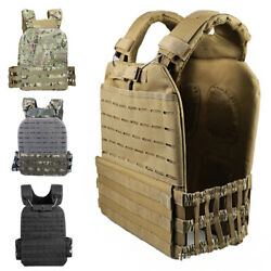 Tactical Molle Crossfit Vest Plate Carrier Quick Release Adjustable Weighted