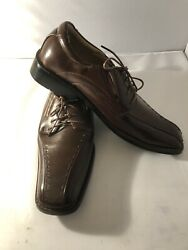 Amici Mens New Brown Leather Lace Up Dress Shoes Size 12 Retail 99