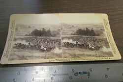 Vintage Stereoview 2nd Artillery And 19th Massachusetts Battle Of Gettysburg Usa