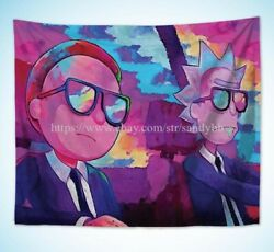 Rick and Morty trippy art wall tapestry