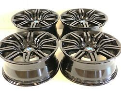 19 Stgd Bmw Wheels Rims M Tech Spider Double Spoke 172 Staggered Factory E60 5