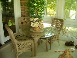 Wicker Patio Furniture Set - Sofa + Table Chairs + 2 Tables + Chair And Ottoman