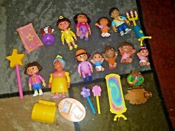 Lot 21 Dora The Explorer Doll House Figures And Accessories Mom Dad Grandma Diego