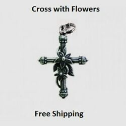 Flower Cross for Necklace or Bracelet Religious $4.95