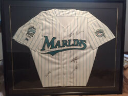 Florida Marlins Jersey Inaugural Season 1993 Autographed And Framed