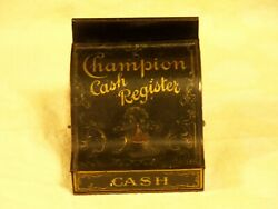 Champion Antique Tin Toy Cash Register. Circa Early 1900s