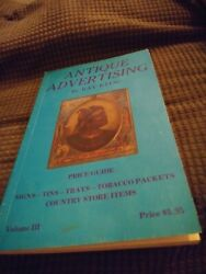 Antique Advertising Price Guide Book By Ray Klug Volume 3 Ex. Trays Tins Signs +