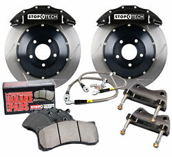 Stoptech Front Brake Pad Kit Calipers Slotted Rotors for 2009-13 Nissan 370Z G37