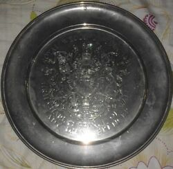 Vintage Rare 925 Sterling Silver Serving Tray Signed Lady Diana Royal Wedding