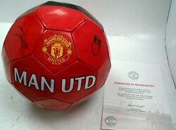 075 Signed 2011 Manchester United Football Direct From The Club