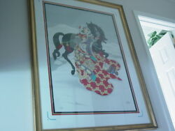 My Spirit Unconquered Caroline Young Large S/n Print/chinese Empress W/ Horse