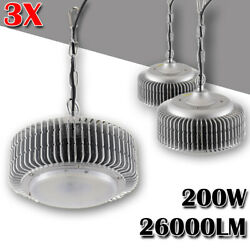 3x 200W LED High Low Bay Light Commercial Warehouse Industrial Factory Shed Lamp