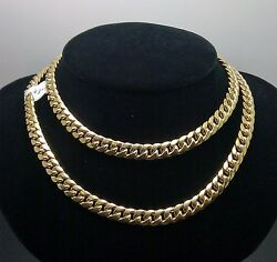 6mm 22 10k Gold Cuban Link Necklace Box Clasp Real 10kt Strong Link Mens Chain