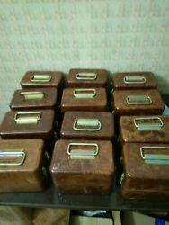 Lot Of 12 Boxes From Dosimeter Of Dp-24 Gamma Radiation Ussr In Excellent Condit