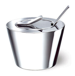 Well Sugar Bowl With Lid And Spoon Stainless Steel Condiment Server New