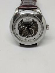 Rotary Menand039s Automatic Watch With White Dial Analogue Display Swiss Made