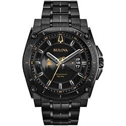 Bulova Menand039s Grammy Watchand039 Quartz Stainless Steel Casual Colorblack Model 98