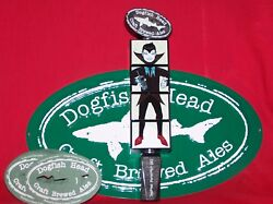 One New In Box Rare 2012 Dogfish Head Uber Tap Handle W/25 Coasters