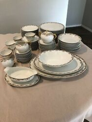 China-vintage Limoges Florale France Bandc Plates,bowls,cups,trays-great Deal