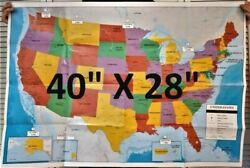 US MAP USA MAP United States wall map Large 40 X 28 Poster Size SHIPS FREE FAST