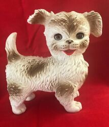 Vintage 1960's Edward Mobley Dog Toy With Blinking Eyes And Squeaker