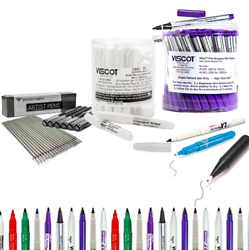 Tattoo Piercing Removable Sterile Skin Scribe Pen Marker And Holder Colors