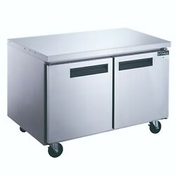 New Dukers Duc60f 2-door 60and039and039 Undercounter Freezer In Stainless Steel