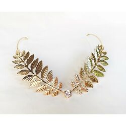 Greek headband Chic Hair Accesories Leaf Hairband Color Gold