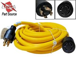 40 Ft 30 Amp L14-30 4 Prong Wire Generator Extension Power Cord 10awg 125/250v