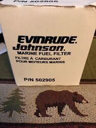 Oem 502905 Evinrude Johnson Marine Fuel Filter Boat Parts Etec Brp Omc Spin On