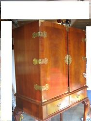 Vintage Hickory Chair Mahogany Armoire - Entertainment Center