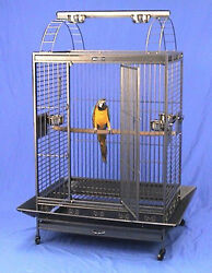 4 Color Large Parrot Cage 32w X 22d X 64h For African Greys Cockatiels Macaw