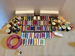 Huge Lot Of Various Colored/size Spools Of Sewing Thread